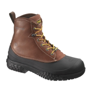 Wolverine Rival Swampmonster Waterproof 6 in Steel Toe Boot - Brown - W05698