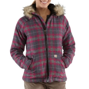 Carhartt Womens Camden Plaid Wool Jacket - Charcoal Heather - 100152