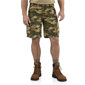 Carhartt Mens Rugged Cargo Camo Short - Rugged Khaki Camo - 100279