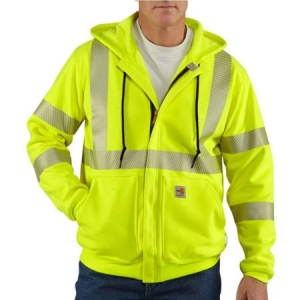 Carhartt Mens Flame-Resistant Heavyweight High Visibility Sweatshirt - Brite Lime - 100460