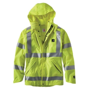 Carhartt High Vis Class 3 Waterproof Jacket  - Brite Lime - 100499