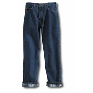Carhartt Mens Relaxed Fit Straight Leg Flannel Lined Jeans - Darkstone - B172