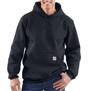 Carhartt Mens Flame-Resistant Heavyweight Hooded Sweatshirt - Dark Navy - FRK006
