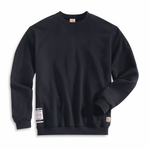 Carhartt Mens Flame-Resistant Heavyweight Crewneck Sweatshirt - Dark Navy - FRK127