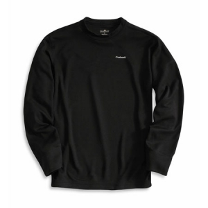 Carhartt Mens Midweight Work Dry Thermal Crewneck Top - Black - K207
