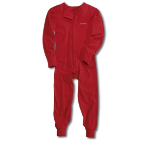 Carhartt Mens Midweight Cotton Union Suit - Red - K226