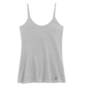 Carhartt Womens Stretch Cami Tank - Heather Grey - WK080