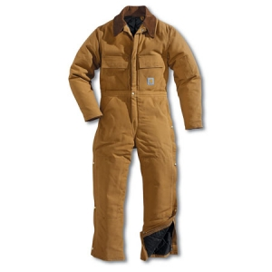Carhartt Mens Arctic Quilt Lined Duck Coveralls - Carhartt Brown - X02
