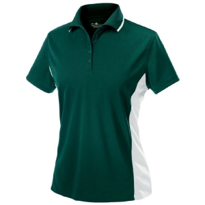 Charles River Womens Color Blocked Wicking Polo Shirt - Forest/White - 2810