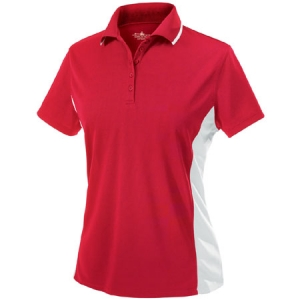 Charles River Womens Color Blocked Wicking Polo Shirt - Red/White - 2810