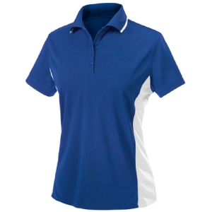 Charles River Womens Color Blocked Wicking Polo Shirt - Royal/White - 2810