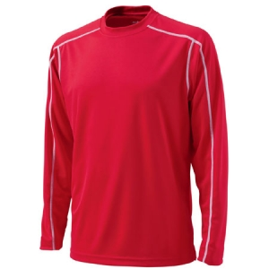 Charles River Long Sleeve Wicking T-Shirt - Red - 3137