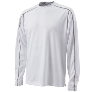Charles River Long Sleeve Wicking T-Shirt - White - 3137