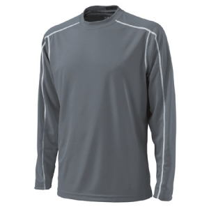 Charles River Long Sleeve Wicking T-Shirt - Grey - 3137