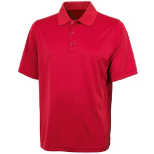 Charles River Mens Smooth Knit Solid Wicking Polo Shirt - Red - 3213