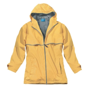 Charles River Womens New Englander Rain Jacket - Buttercup/Reflective - 5099