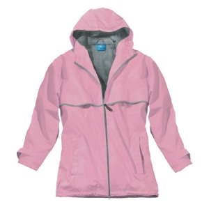 Charles River Womens New Englander Rain Jacket - Pink/Reflective - 5099