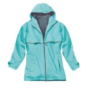 Charles River Womens New Englander Rain Jacket - Aqua/Reflective - 5099