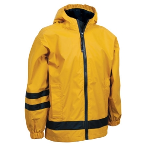 Charles River Childrens New Englander Rain Jacket - Yellow/Navy - 7099