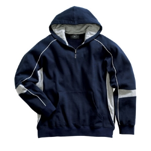 Charles River Youth Victory Hooded Sweatshirt - Navy/Grey/White - 8052