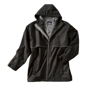 Charles River New Englander Rain Jacket - Black/Grey - 9199