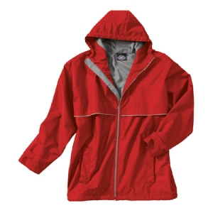 Charles River New Englander Rain Jacket - Red/Grey - 9199