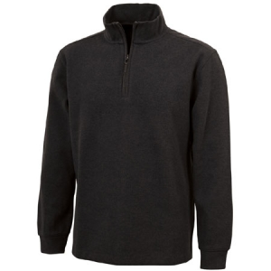 Charles River Portland Quarter Zip Cotton Pullover Sweatshirt - Dark Charcoal - 9209