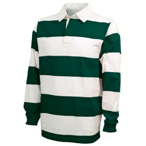 Charles River Classic Rugby Shirt - Forest/White - 9278