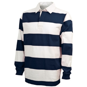 Charles River Classic Rugby Shirt - Navy/White - 9278