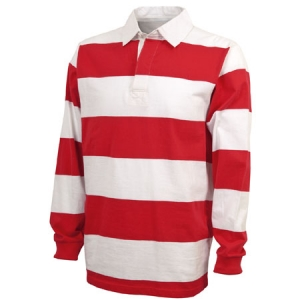 Charles River Classic Rugby Shirt - Red/White - 9278