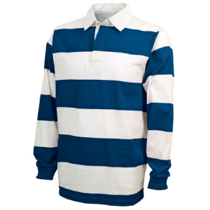 Charles River Classic Rugby Shirt - Royal/White - 9278