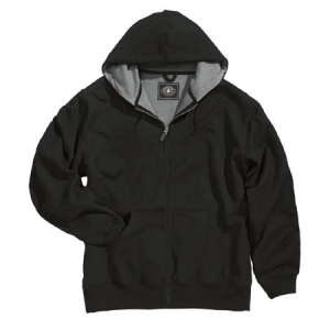 Charles River Tradesman Thermal Full Zip Hooded Sweatshirt - Black - 9542