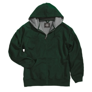 Charles River Tradesman Thermal Full Zip Hooded Sweatshirt - Forest - 9542
