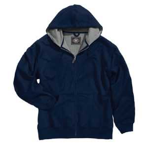 Charles River Tradesman Thermal Full Zip Hooded Sweatshirt - Navy - 9542