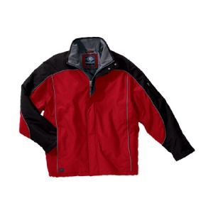 Charles River Mens Alpine Parka - Red/Black - 9664