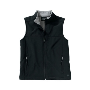 Charles River Mens Soft Shell Vest - Black/Vapor Grey - 9819