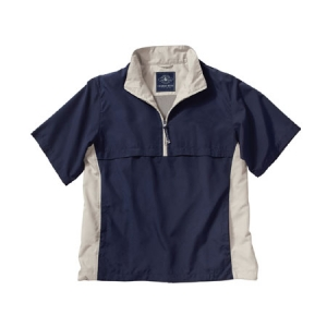 Charles River Ace Short Sleeve Windshirt - Navy/White Sand - 9843