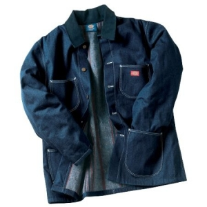 Dickies Mens Denim Blanket Lined Chore Coat - Indigo Blue - 3494