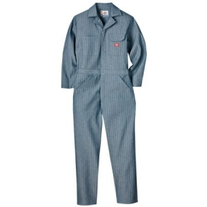 Dickies Mens Cotton Coveralls - Fisher Stripe - 48977