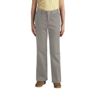 Dickies Girls Stretch Flare Bottom Pants - Silver Grey - 71069