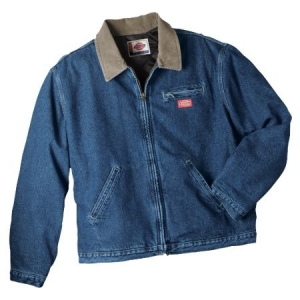 Dickies Mens Denim Jacket - Quilt Lined - Stonewashed Dark Indigo - 780