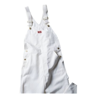 Dickies Mens Painters Bib Overalls - White - 8953