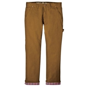 Dickies Relaxed Fit Flannel Line Carpenter Jeans - Rinsed Brown - DU217