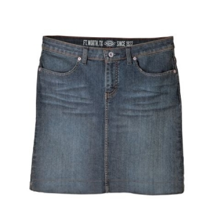 Dickies Womens Denim Skirt - Antique Dark - FK203
