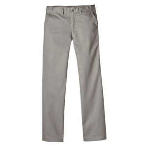 Dickies Girls Stretch Straight Leg Pants - Silver - KP5118
