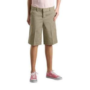 Dickies Girls Bermuda Shorts with Logo - Khaki - KR516