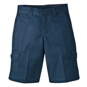 Dickies Girls Cargo Shorts - Rinsed Dark Navy - KR540