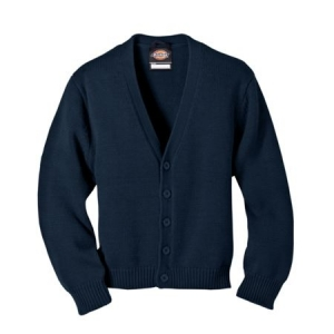 Dickies Boys Preschool V-Neck Cardigan Sweater - Dark Navy - KW3650