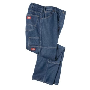 Dickies Relaxed Fit Jeans With Double Knee - Rinsed Indigo Blue - LD200