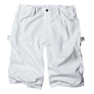 Dickies Mens Premium Painters Shorts - White - WR820